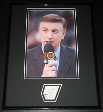 Marv Albert Signed Framed 11x14 Photo Display Knicks NBA on TNT