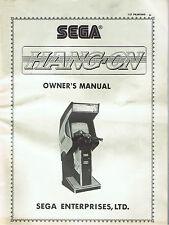 Original 1985 Sega Hang-On Arcade Machine Owner's Manual w/Schematic Diagrams