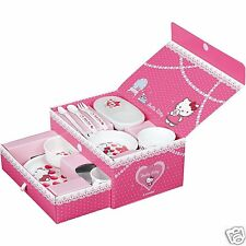 Hello Kitty Combi Tableware Baby Toddler Girl 9 pieces set Plate Spoon Cup Japan