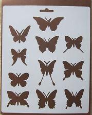 Plastic/PVC/Coated/Paper/Stencil/Multi/Butterfly/Eleven/Designs/CHECK DETAILS