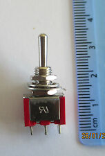 More details for sprung miniature spdt point switches (on)-off-(on) in packs of 1, 5, 10 or 25