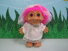 "First Communion Girl w/Out Parts - 5"" Russ Troll Doll - New In Original Wrapper"
