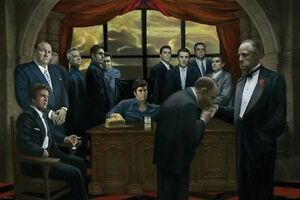GANGSTERS POSTER Mafia Scarface Godfather Casino  RARE HOT NEW 24x36