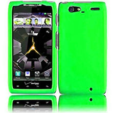 For Motorola DROID RAZR MAXX Rubberized HARD Case Snap On Phone Cover Neon Green