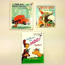 Lot - 3 Kids Mid Century Books 1957 Circus Boy 1952 Big Coal Truck 1970 Dr Seuss