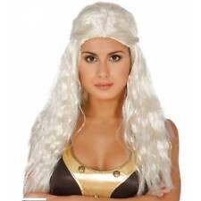 Daenerys Long Blonde Braided Medieval Wig Game Of Thrones Fancy Dress