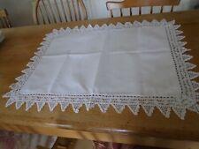 More details for  antique irish linen pillowcase - hand crochet lace