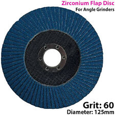 125mm 60 Grit CIRCONIO Solapa Disco-Para Amoladora De ángulo-Molienda De Metal