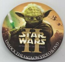 "Star Wars II Attack Of The Clones ""Yoda"" Promotional Pin"