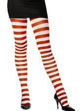 Ladies Adult Red White Striped Stripy Wally Christmas Fancy Dress Costume Tights
