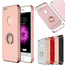 F iPhone 8 7 Plus 6 s Hybrid Rubber Hard Case with Ring Buckle Grip Holder Cover
