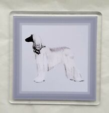More details for afghan hound coaster by curiosity crafts