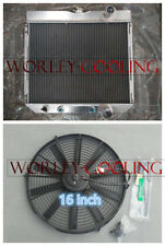 3 Row Aluminum Radiator + Fan for Ford Fairlane 1963-69 / Ford Mustang 1967-1969