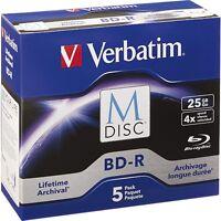 Verbatim Blu-ray Recordable Media - Bd-r - 4x - 25 Gb - 5 Pack Jewel Case -