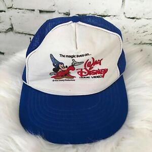 Walt Disney Boys One Sz Snapback Hat Blue Meshback Trucker Baseball Cap Vintage