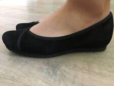 Paul Green Halbschuhe Schuhe Ballerina Wildleder Gr. 38 (5) Schwarz