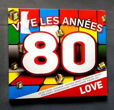 """CD AUDIO INT /VIVE LES ANNEES 80 """"LOVE"""" COMPILATION LM MUSIC 296.A135.025 NEUF"""