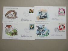 Set of four BIRDS  WWF fdc:Poland,Romania