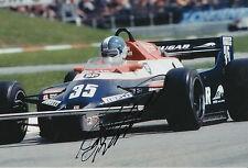 Derek Warwick Candy Toleman Hand Signed 12x8 Photo F1 2.
