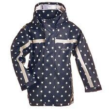 BMS Buddeljacke Jacke Regenjacke Matschjacke blau weiß Sterne Gr. 104 (e509)