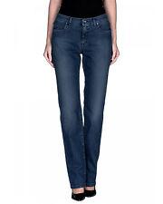 Trussardi Jeans Denim donna - gamba dritta - logo con strass in PROMO