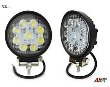 12/24V ROUND 27W 9 LED WORK FLOOD LIGHT LAMP CAR JEEP TRUCK BOAT OFFROAD ATV SUV