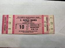J. Geils Band Ticket Knoxville Tennessee 1982