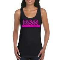 Hen Party Holiday Neon Pink Personalised Women's Ladies Tank Top Vest T Shirt