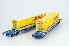 LS Models 36062 Set 2x DB NACCO 4achs ContainerTragWage DHL/DANZAS Ep5-6 NEU+OVP