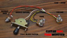 TONE MONSTER Guitar Wiring Harness 3W/1V/1T/J 3 Way Switch Volume Tone 250K Tele