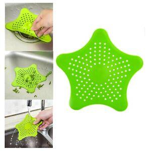 Star Shape Silicone Mesh Drainer-Green,Hair Catcher,Kitchen & Bath Sink Strainer
