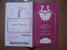 PROGRAMME saison 1954 Grand Theatre de Dijon 1955 Princesse Czardas Chanteur Mex