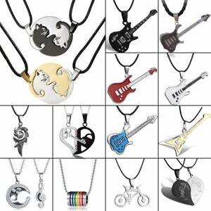 Stainless Steel Men Women Guitar Heart Love Animal Cat Pendant Necklace Hot Sale