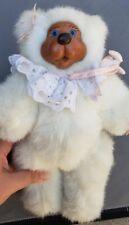 Vintage Raikes Jointed  Bear Toy Plush White Sophie #661380 w Tag