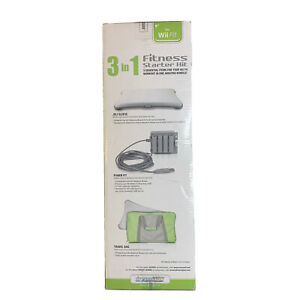 dreamGEAR 3-in-1 Fitness Starter Kit for Wii Fit, Jeli Sleeve, Power Fit, Bag