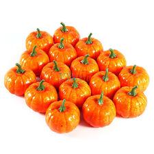 16PCS Artificial Mini Pumpkin Festival Halloween Party Garden Ornaments Decor