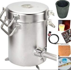 0-28LBS(12.8KGS) Gas/ Propane Melting Furnace Kit, metal smelting,1800 °C/3272F