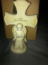 Russ First Holy Communion Cross Statue Boy Angel New With Box