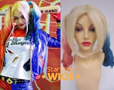 DELUXE HARLEY QUINN SUICIDE SQUAD DIP DYE PIGTAIL HEAT RESISTANT COSTUME WIG