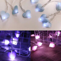 Led Love Heart Fairy String Lights Pink Girl Party Garden Garland Xmas Lighting