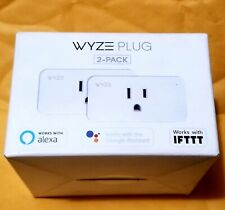 NEW WYZE Plug 2 PACK - Smart Home Wi-Fi Plug Model: WLPP1