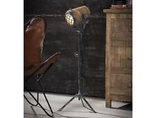 VALMIR Stehlampe 112-184 Vintagelook Stativgestell Scheinwerferoptik Mangoholz