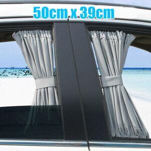 2Pcs Universal Car Van SUV VIP Curtain Anti-UV Sunshade Visor 50X39cm