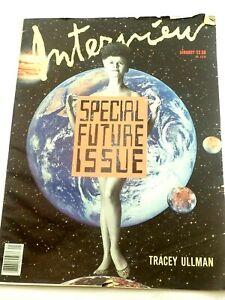 Andy Warhol's Interview magazine Tracey Ullman Special Future Issue Jan.1988