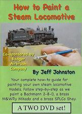 How to Paint a Steam Locomotive 2 DVD Set w/Bonus 3rd Pictures & Words Prod DVD