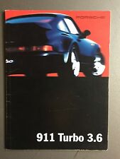 1993 Porsche 911 Turbo 3.6 Showroom Sales Brochure RARE!! Awesome L@@K