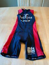 KIWAMI Skin Suit Tri Triathlon Padded Cycling Short Red Black YOUTH SZ 10