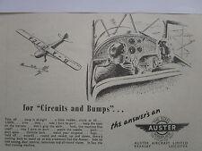 4/47 PUB AUSTER STEEL AEROPLANE AIRCRAFT AVION TRAINER CIRCUIT BUMPS ORIGINAL AD