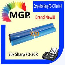 20 SHARP FO-3CR F0-3CR COMPATIBLE FAX FILM ROLLS FO3CR F03CR FO-760 FO-780 FO785