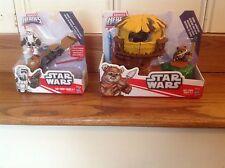 Star Wars Galactic Heroes Endor Ewok Bundle--Scout Trooper And Speeder Bike